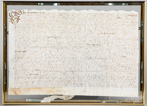 English indenture, dated 1653
