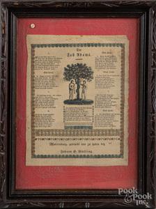 Two Pennsylvania printed fraktur, 19th c.
