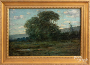 American oil on canvas landscape, late 19th c.