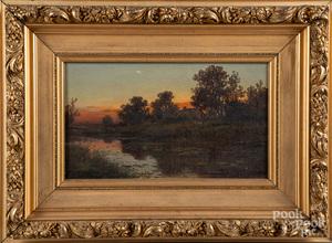Charles Grant Beauregard oil on canvas sunset