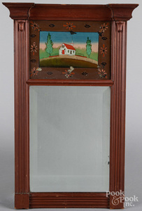 Late Federal painted mirror, 19th c.