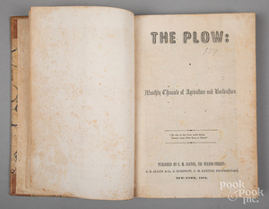 Five bound volumes of The Cultivator