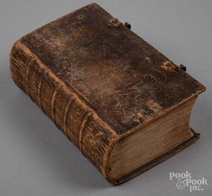 Johann Arndt leather bound religious text, 1718