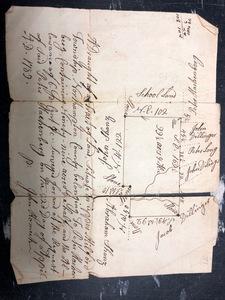 Five hand drawn survey maps, 18th c.
