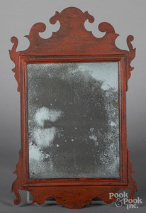 Painted Chippendale mirror, 19th c.