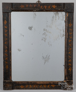 New England painted mirror, 19th c.