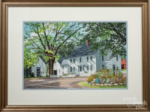 Mildred Sands Kratz two watercolor works