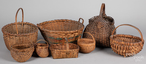 Eight assorted baskets