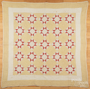 Two pieced quilts, ca. 1900, etc.