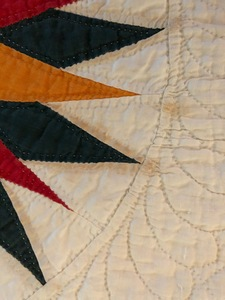 Mariners compass quilt, late 19th c.