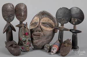 African carved wood masks and figures