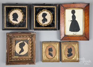 Six silhouettes, 19th c.