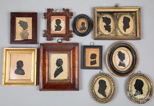 Ten silhouettes, 19th c.