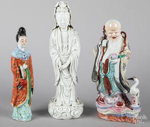 Chinese blanc de chine Guanyin, etc.