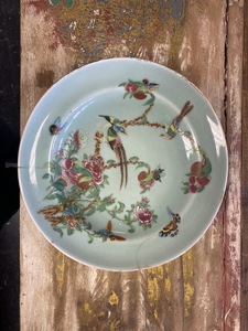 Six Chinese porcelain dishes, etc.