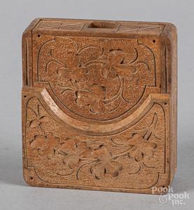 Carved folding watch hutch