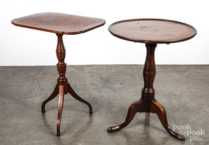George II mahogany candlestand, mid 18th c., etc,