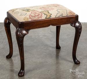 George II style mahogany stool