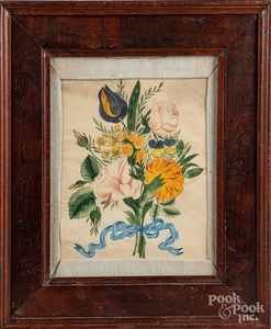 Watercolor floral drawing, late 19th c.