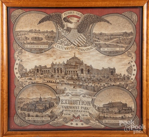 Centennial Exhibition handkerchief