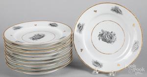 Set of ten Barr Flight & Barr porcelain plates