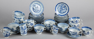 Chinese export porcelain Canton cups and saucers