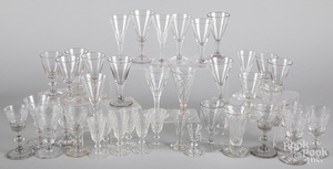 Collection of colorless glass cordials