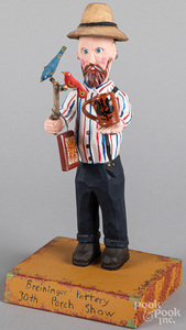 Jonathan Bastian carved and painted figure