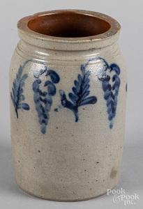 Pennsylvania stoneware jar, 19th c.