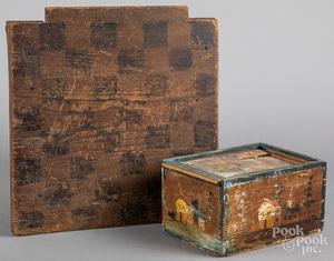 Slide lid box & gameboard