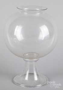 Blown colorless glass apothecary jar, 19th c.