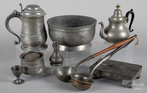 Pewter to include a Townsend & Compton teapot