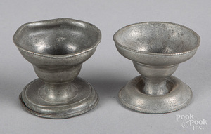 Two Philadelphia pewter salts