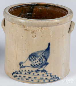 Three gallon stoneware crock, 19th c.