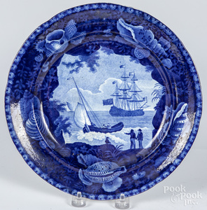 Historical blue Cadmus plate