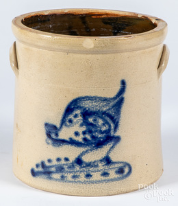 Two gallon stoneware crock, 19th c.