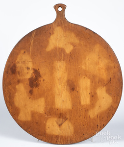 Pine dough board, 19th c.