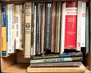 Reference books, magazines, auction catalogs