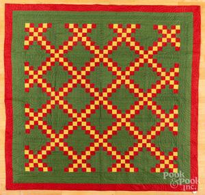 Irish chain quilt, late 19th c.
