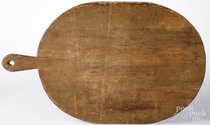 Pine dough board, 19th c.