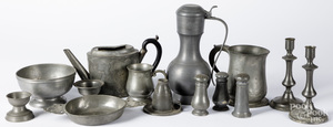 Continental pewter tablewares