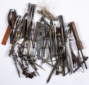 Early tools to include compasses, calipers, etc.