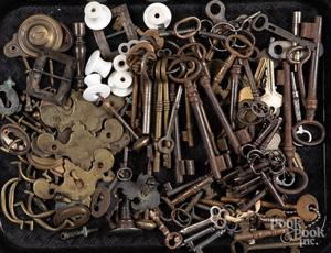 Early keys, winders, brasses, etc.