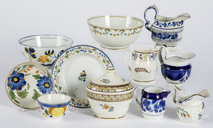 Group of Leeds type pearlware