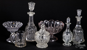 Collection of colorless glass
