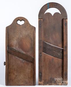 Two Pennsylvania maple slaw boards