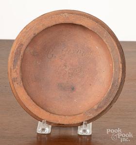 Redware plate mold, inscribed Gerbich 1850