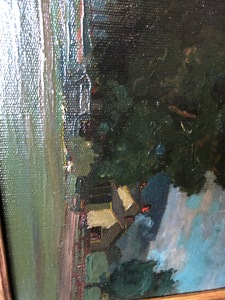 Gustave Cimiotti Jr. oil on canvas landscape
