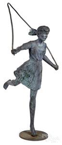 Dennis Smith bronze garden statue