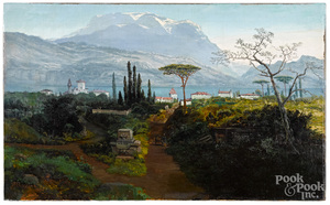 James F. Gookins oil on canvas landscape